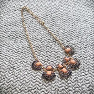 Pretty peach and blue necklace